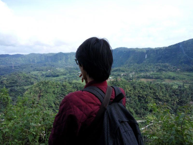 Pemandangan Citambur dari atas tebing