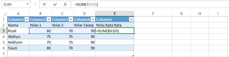 Kumpulan Rumus Excel Lengkap Dan Fungsinya Bikin Sum