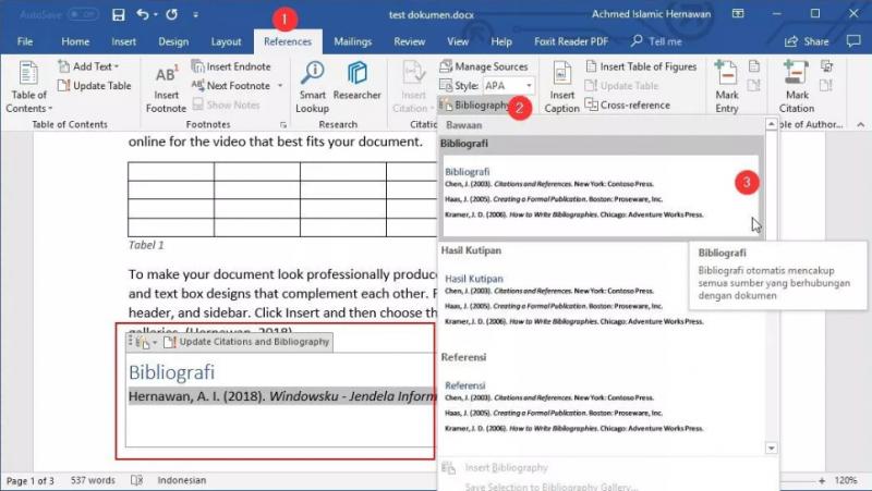 Belajar Microsoft Word style