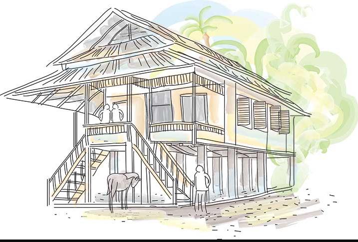 Contoh rumah adat Minahasa