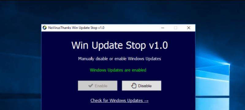 Windows update Stop