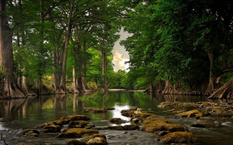 sungai di bentang alam benua asia
