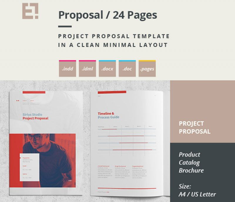Brosur Minimal atau Template Proposal