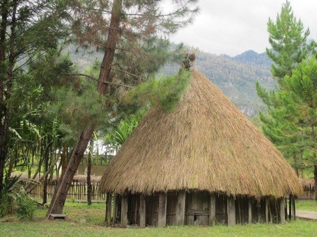 Rumah adat Kariwari Kebudayaan Papua Barat