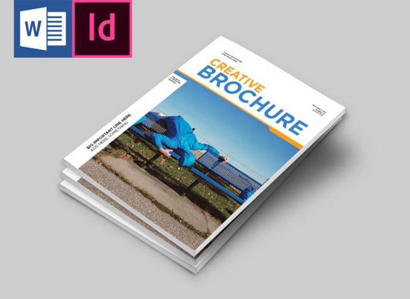 Template Brosur Perusahaan dengan Microsoft Word 2010
