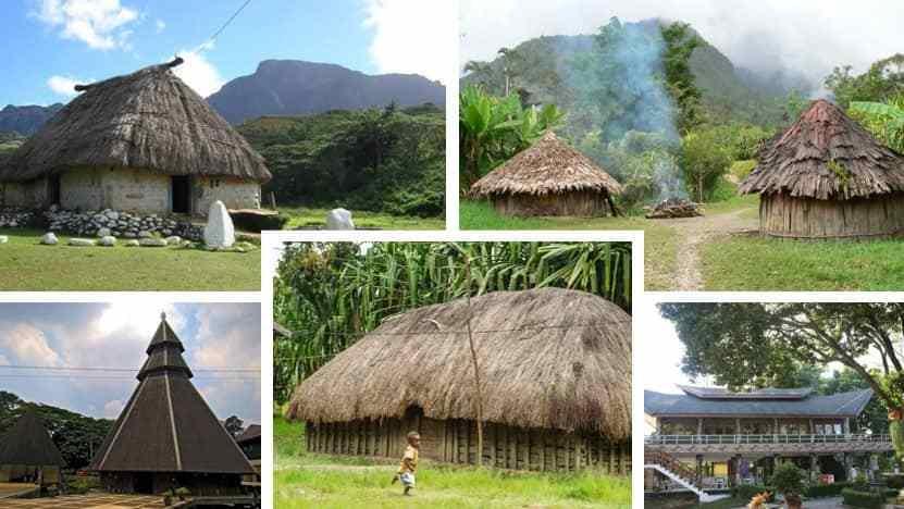 rumah adat papua campuran