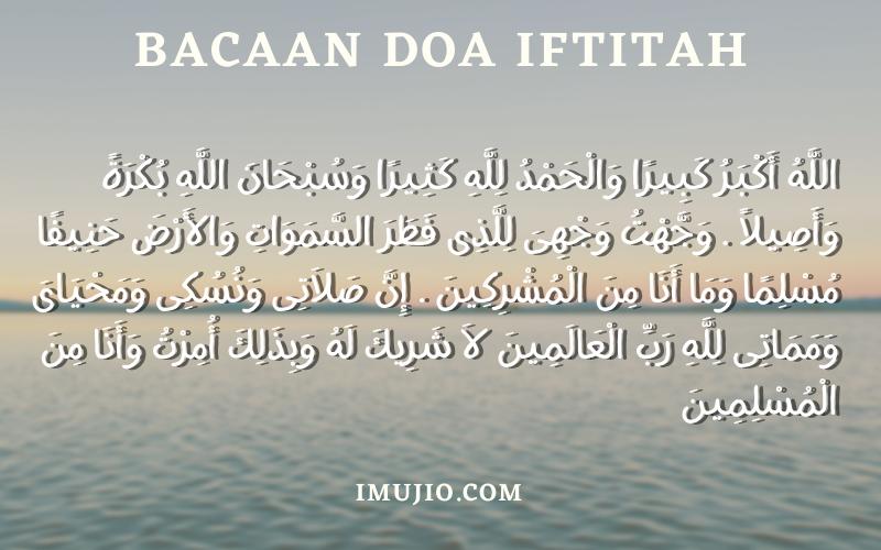 Macam-Macam Bacaan Doa Iftitah