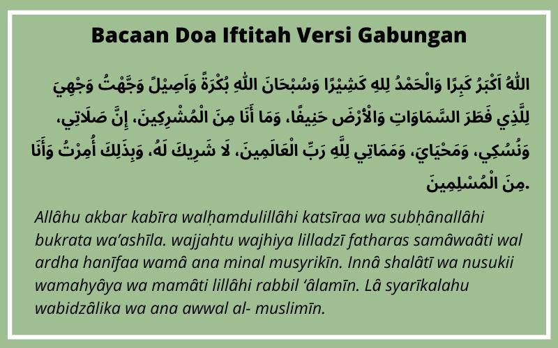 Membaca Doa Iftitah
