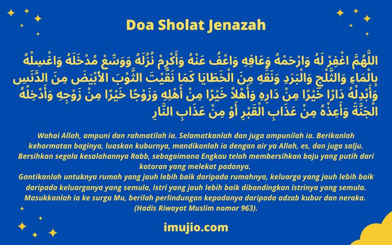 Doa Sholat Jenazah